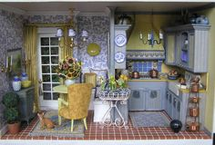 Susan's Miniatures. French country kitchen. Apparently copyright Shutterfly. Scary that.