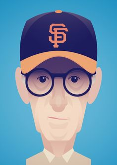 Here's another Woody Allen caricature I did for a little article in San Francisco Magazine