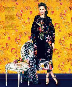Print of the Season by Erik Madigan Heck for Harpers Bazaar March 2014, Elisabeth Erm in Dries Van Noten.
