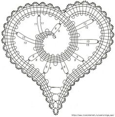 Bobbin lace, buitenrand met picot-kering in plaats van normale kering Irish Crochet Patterns, Bobbin Lace Patterns, Crochet Motifs, Form Crochet, Crochet Leaves, Crochet Doilies, Crochet Flowers, Crochet Stitches, Bruges Lace