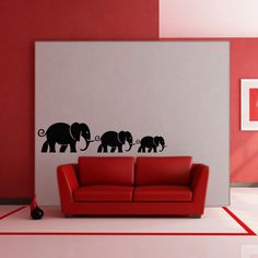 Buy wall decals and wall stickers online in India Animal Wall Decals, Stickers Online, Wall Quotes, Elephants, Wall Stickers, Wall Murals, Walls, Classy, Birds