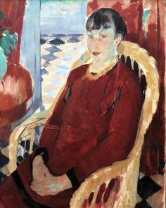 Rik Wouters. 1882-1916 Belgian, La dame en rouge. 1912. Rotterdam.  Boijmans van Beuningen