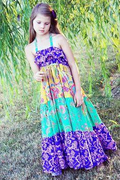 Cora's Tween Tiered Maxi Dress Sun Dress and от CreateKidsCouture