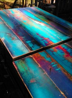 custom pub table cafe table bistro table colorful by trashstudio