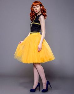Adult Yellow Tulle Skirt