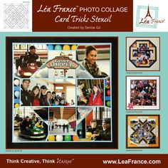 Card Tricks Template by Lea France. All the photo collages on this board were designed using this versatile template. The sky is the limit for the pages you can design by using just this template and your imagination. Only $23.99 #Photos #Collage #Designs #Stencils #PhotoCollage