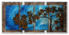 """48x24 Megan Duncanson to the sky modern metal wall art, home décor by ASH CARL DESIGNS. $513.60. Painted Steel. Hangs in 15 minutes!. High Quality Welded and Bolted Construction. Corrosion Resistant Finish. Size: 23.5"""" T x 48"""" W Inches. Bring a unique look and color to your white walls with this """"To The Sky"""" metal wall sculpture by Megan Duncanson. These metal wall hangings consist of torch-cut 18-gauge steel layers, stud construction, and one-of-a-kind hand-sa..."""