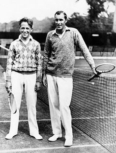 Bill Tilden (right), 1928 Big Bill knew the only way to effectively wear white pants and white shoes was to keep his kicks squeaky clean.