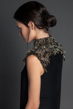 """The LACEY piece. Hand-beaded neck piece By PIECE. //The """"Volume 1"""" Collection www.piece-collection.com"""