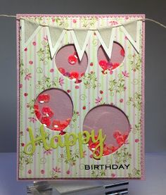 Crafting While I Wait: Birthday Balloons Shaker Card