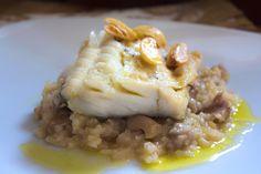 PRE-PARA-DOS  EN  LA  COCINA                                                                       : Bacalao confitado y arroz meloso con oreja de cerd...