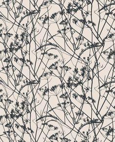Meadow wallpaper – white. Clarissa Hulse