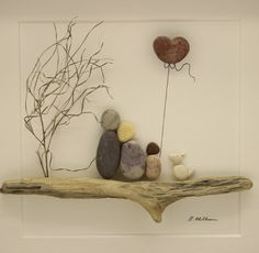 Pebble art couple with 2 dogs, pebble art family o. - Pebble art couple with 2 dogs, pebble art family of 2 with dogs, Valentine's Gift, pebble art dog - Stone Crafts, Rock Crafts, Yarn Crafts, Pebble Stone, Stone Art, Family Pictures, Art Pictures, Couple Pictures, Images D'art