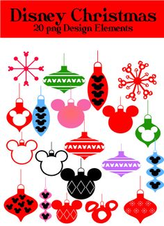 Items similar to Disney Christmas Ornaments Baubles Clip Art PNG for commercial and personal use Disney World Mickey Mouse on Etsy Disney Cards, Disney Diy, Disney Trips, Disney Dream, Disney Cruise, Disney Christmas Ornaments, Mickey Mouse Christmas, Christmas Balls, Disney Scrapbook Pages