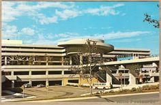 Vintage postcard of the Main Terminal Building at Tampa International Airport in Tampa, Florida.
