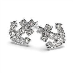 Morgan's Anchor CZ Stud Earrings Need anchor studs for my second or this new third hole!