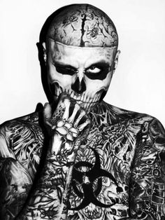 Rick Genest - because he is his art and doesn't care what people think of it.