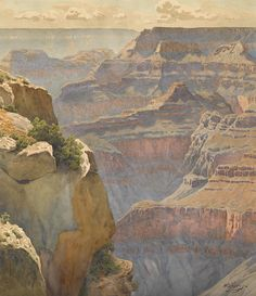 Gunnar Mauritz WIDFORSS. View of Hopi Point on the west rim of the Grand Canyon [watercolor on paper].