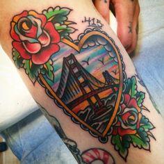 11 Colorful Golden Gate Bridge Tattoos