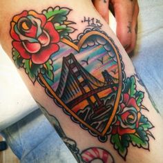 11 Colorful Golden Gate Bridge Tattoos