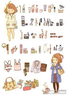动漫 插画 手绘 壁纸 素材 ╯з ︶ 麽麽,How to Draw , Study Resources for Art Students , CAPI ::: Create Art Portfolio Ideas at milliande.com, Art School Portfolio Work ,Whimsical, Cute, Kawaii,Doll.Girls