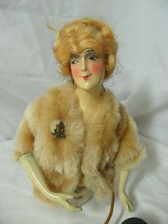 Vintage Munzerlite Half Doll. via Etsy.