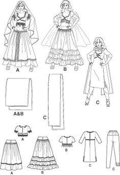 Diy Sewing Pattern-Simplicity 4249-Belly Dance Pattern-Sari Pattern. $6.00, via Etsy.