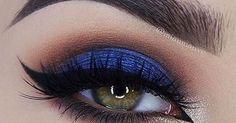 Blue smokey eye, Royal blue and Smokey eye on Pinterest