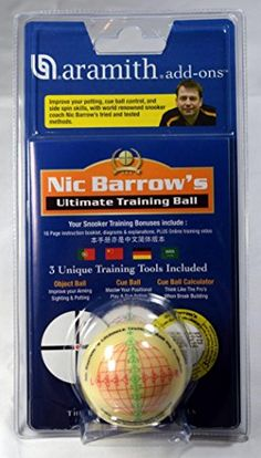 Aramith Nic Barrows Ultimate Snooker Training Ball * Visit the image link more details-affiliate link. #GETFIT !