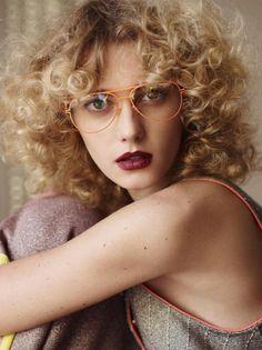 Aviator Glasses Clear (Sigrid Agren for Rika Magazine)