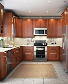 Ikea Kitchen Design, Ikea Kitchen Cabinets, Kitchen Redo, Kitchen Colors, New Kitchen, Kitchen Designs, Kitchen Ideas, Kitchen With Brown Cabinets, Kitchen Modern
