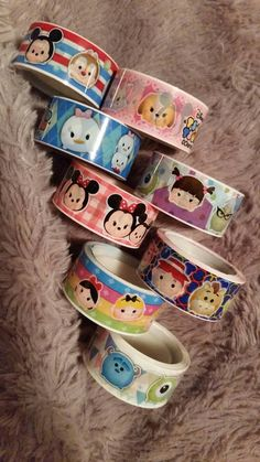New Disney Tsum Tsum Washi Samples by CortneeBoutique on Etsy