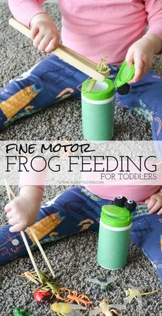 Inexpensive Activity for Toddlers (& Preschoolers) to strengthen hand muscles & develop Fine Motor skills! www.acraftyliving...