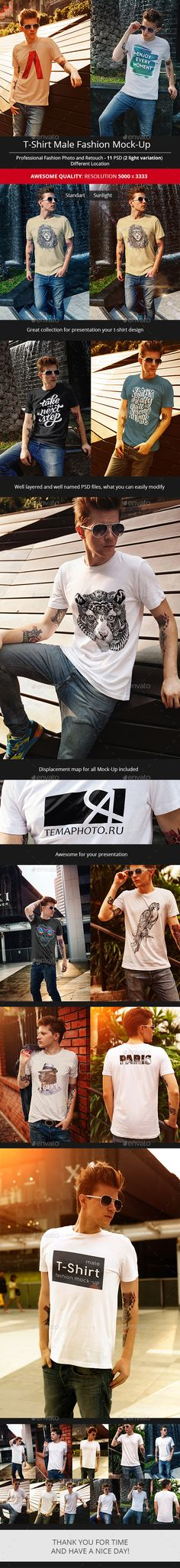 Male T-Shirt Fashion Mock-Up. Download here: http://graphicriver.net/item/male-tshirt-fashion-mockup/16659898?ref=ksioks