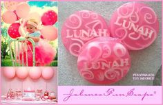 Jabones de glierina personalizados con el nombre del bebé....funsoaps@hotmail.com