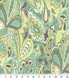 "Home Essentials Lightweight Decor Fabric 45"" Uninhibited Beachglass,"