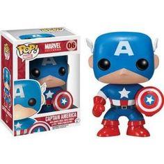 Figurine Funko Pop Marvel Vinyl 06 Captain America, 9 cm