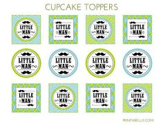 Link To Little Man Set ~ Showing Mustache Cupcake Toppers