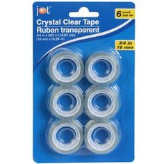 Jot Standard-Size Crystal Clear Tape Roll Refills, 6-ct. Pack