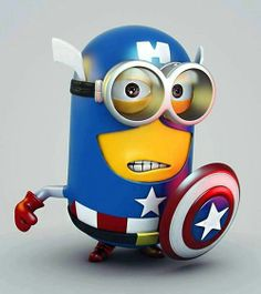 Captain America Minion @Amanda Snelson Snelson Roberds