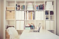 white expedit working area