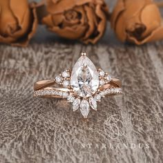 Your place to buy and sell all things handmade Pear Shaped Engagement Rings, Engagement Ring Shapes, Dream Engagement Rings, Rose Gold Engagement Ring, Marquise Engagement Rings, Cinderella Engagement Rings, Different Engagement Rings, Custom Made Engagement Rings, Designer Engagement Rings