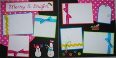 MERRY and BRIGHT 12x12 Premade Scrapbook Pages ChRiSTmAs. $16.50, via Etsy.