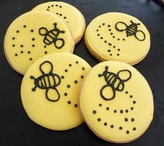 beautiful bee cookies