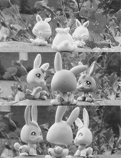 Littlest pet shop bunnies through the years (c) lil_lps