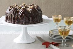 Gingerbread Cake with Chocolate Ginger Glaze - Victoria magazine