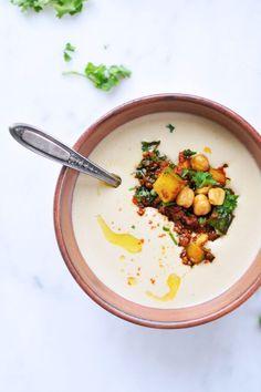 Creamy Hummus Soup w