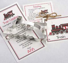 Train Cookie Cutter by Ann Clark Size: 4 Made in the USA Certified Safe for Lead and Cadmium. US made tin-plated Steel. Hand wash, not dishwasher safe. Recipe card with Ann's original artwork, cookie and Frosting recipe. Cookie Cutter Recipes, Cookie Cutters, Christmas Birthday Party, 2nd Birthday, Birthday Ideas, Birthday Parties, Tractor Cookies, Polar Express Party, Transportation Party