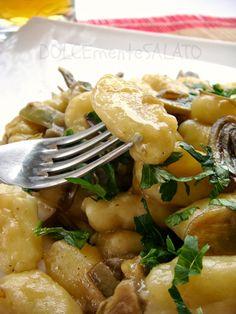 DOLCEmente SALATO: Gnocchi di patate, carciofi e salsa di birra
