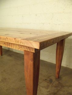 Reclaimed Barn Wood Dining Table. This looks like mine!